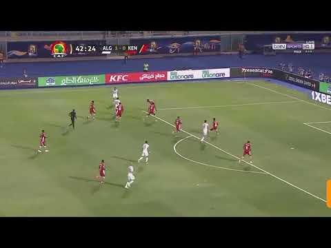 شاهد هدف رياض محرز الثاني للجزائر ضد كينيا