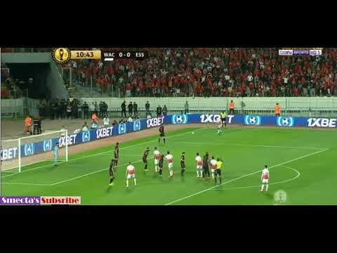 شاهد الوداد البيضاوي يحرز الهدف الأول في مرمى النجم الساحلي التونسي