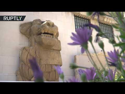 شاهد  هدية ثمينة من إيطاليا لمتحف دمشق الوطني