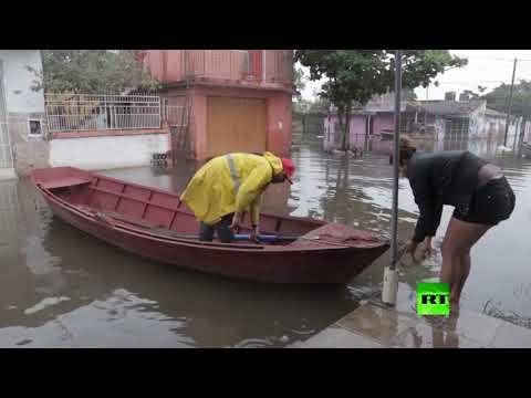 شاهد فيضانات غامرة تغرق باراغواي