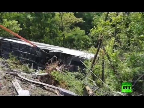 مقتل روسية وإصابة 40 شخصًا في انقلاب حافلة سياحية بمدينة سيانا الإيطالية