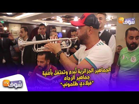 شاهد الجماهير الجزائرية تُبدع بأغنية جماهير الرجاء فبلادي ظلموني