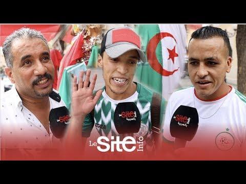 شاهد أعلام الجزائر تزين مدينة وجدة المغربية ليلة نهائي الكان 2019