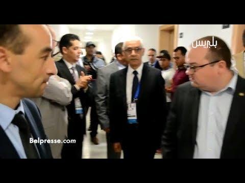 شاهد وزير الشباب والرياضة يتفقد القاعة الأولمبية في الجامعة الدولية في الرباط