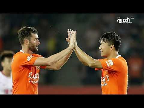 شاهد فريق ووهان الصيني يثير الرعب في إسبانيا